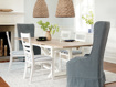 """Tavola 87"""" Refectory Dining Table in Ombra Oak and All White"""