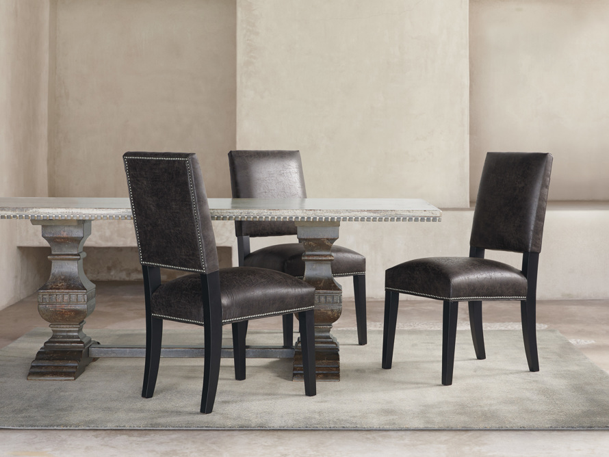 "Torino Recycled Leather 20"" Dining Side Chair, slide 8 of 9"