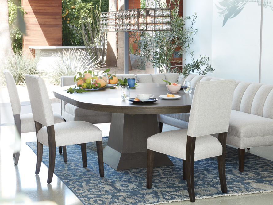 Torino Upholstered Dining Side Chair in Turbo Ash, slide 1 of 9