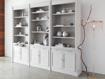 Athens Modular Triple Display Cabinet in Stratus