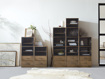 Curiosity Modular 3 Cubby Cabinet In Natural