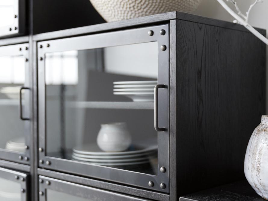 Curiosity Modular 3 Cubby Cabinet in Black, slide 5 of 8