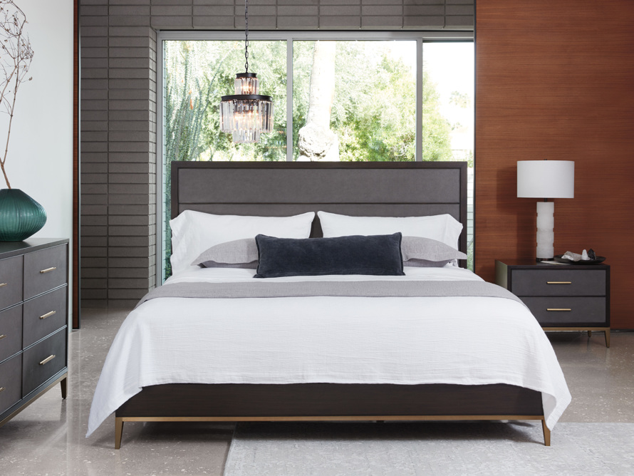 Malone Queen Bed in Sparrow, slide 1 of 8