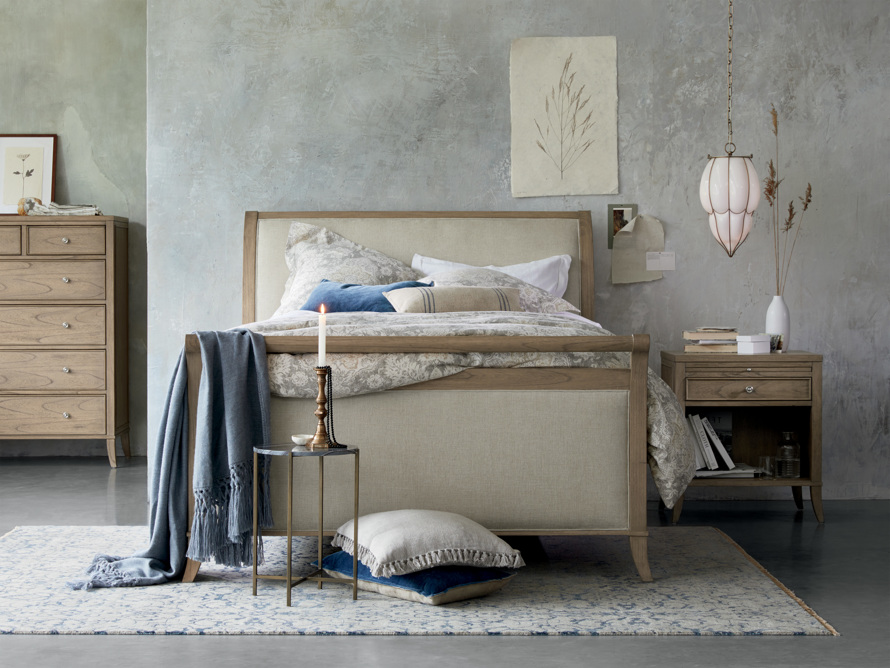 Pearson King Storage Bed in Basa Natural