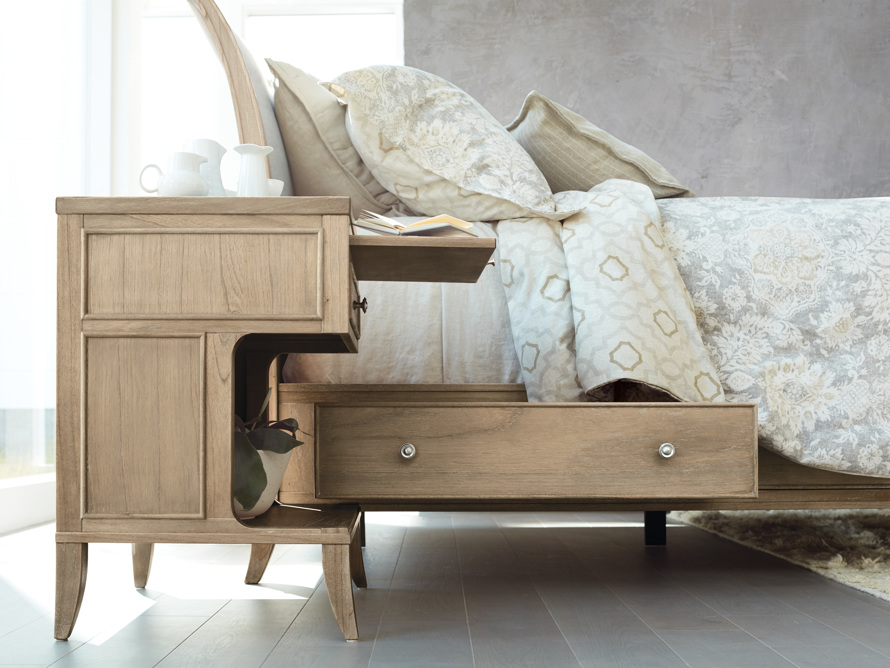 Pearson Queen Storage Bed in Basa Natural, slide 9 of 12