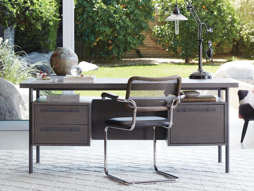 "Sullivan 71"" Executive Desk in Grey, slide 10 of 10"