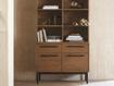 "Sullivan 38"" Single Bookcase with File Base"