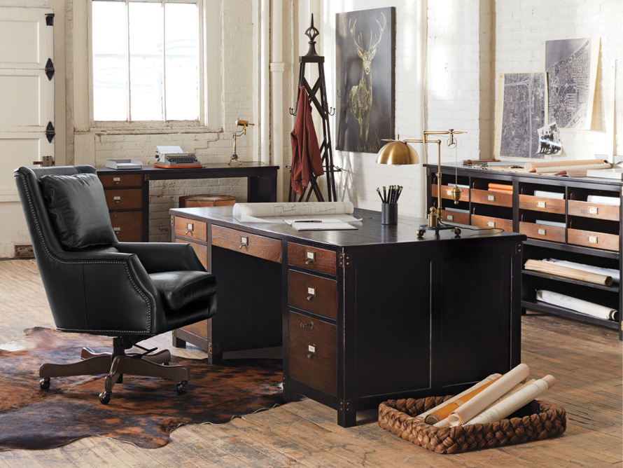 Telegraph Lateral Worker's Cabinet in Spencer Black and Brown
