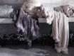 Faux Fur Pom Throw in Grey