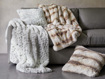 Faux Fur Snow Leopard Pillow