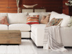 Natural French Stripe Linen Throw