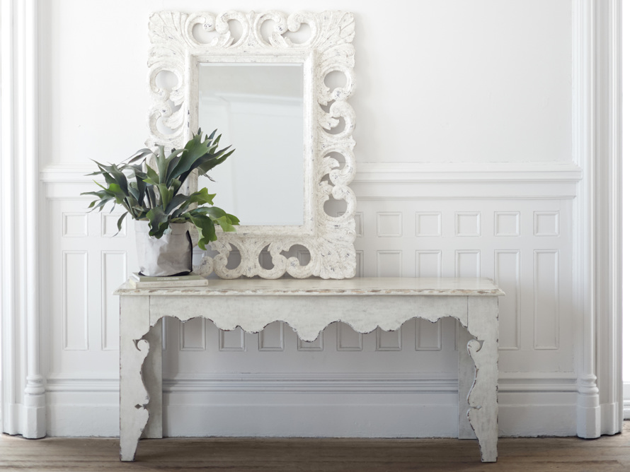 "PORTER 52"" WALL MIRROR IN WHITE, slide 6 of 6"