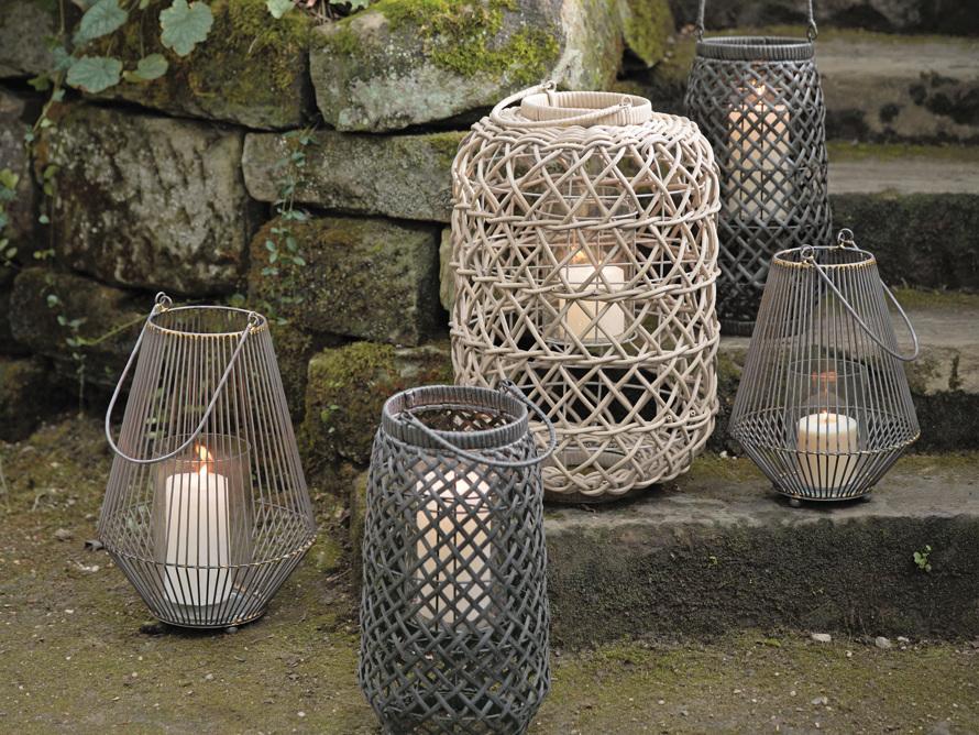 Wyatt Outdoor Lantern in Weathered Grey