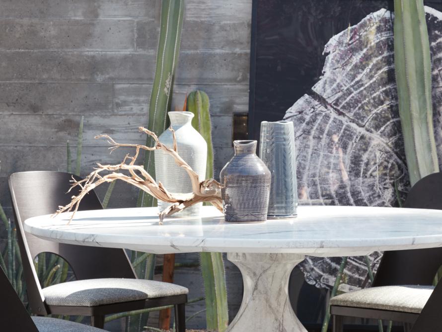 """Soft Blue 13"""" Crosshatch Vase, slide 5 of 5"""