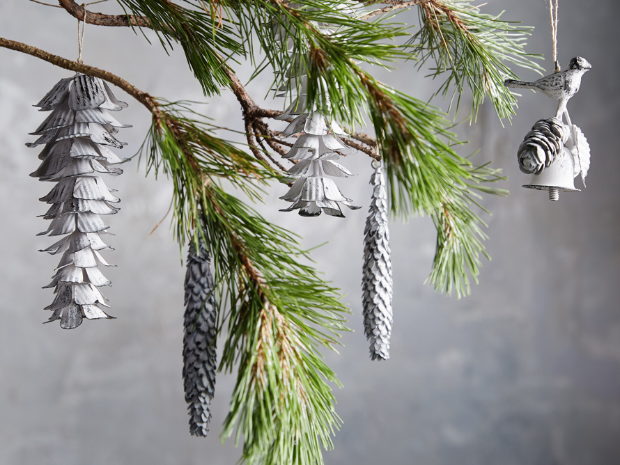 Pinecone Bell Ornament set
