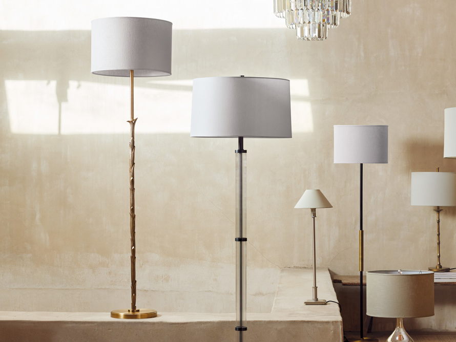 "Flora 17"" Floor Lamp with Ivory Shade, slide 5 of 6"