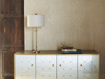 "Flora 14"" Table Lamp with Ivory Shade"