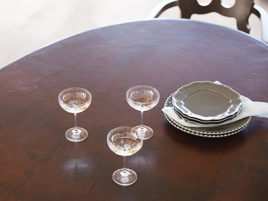 Avignon Grey Dinner Plate Set with Pearl Trim