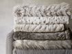 Faux Fur Feather Throw