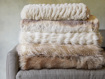 Luxe Ivory Faux Fur Throw