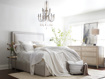 Charcoal And Ivory Striped Linen Queen Duvet Cover