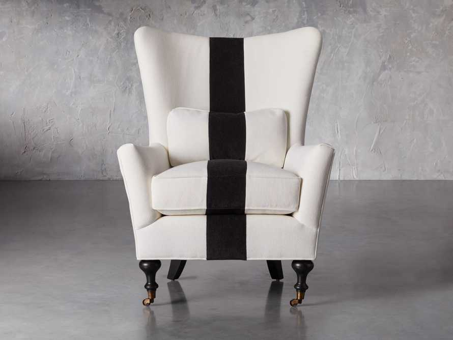 """Rio Upholstered 35"""" Chair with Contrast Stripe, slide 1 of 7"""