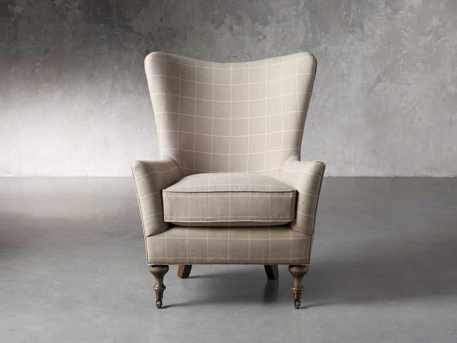 "Rio Upholstered 35"" Chair in Window Linen, slide 3 of 11"