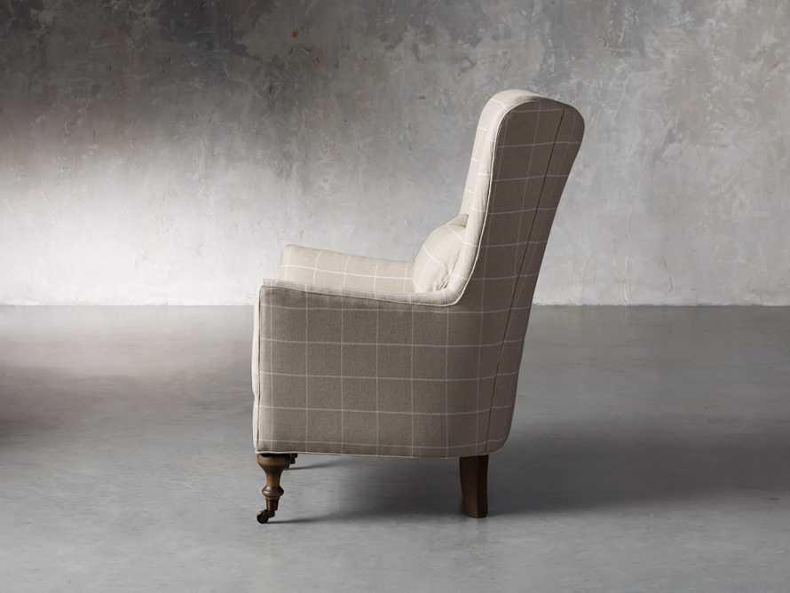 "Rio Upholstered 35"" Chair in Window Linen, slide 5 of 11"