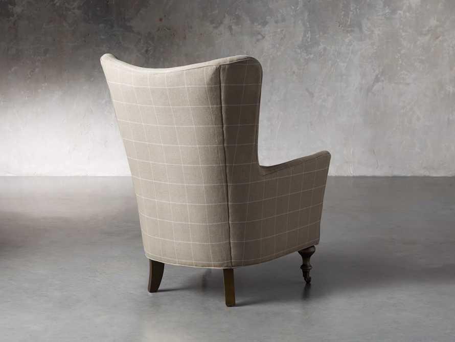 "Rio Upholstered 35"" Chair in Window Linen, slide 6 of 11"