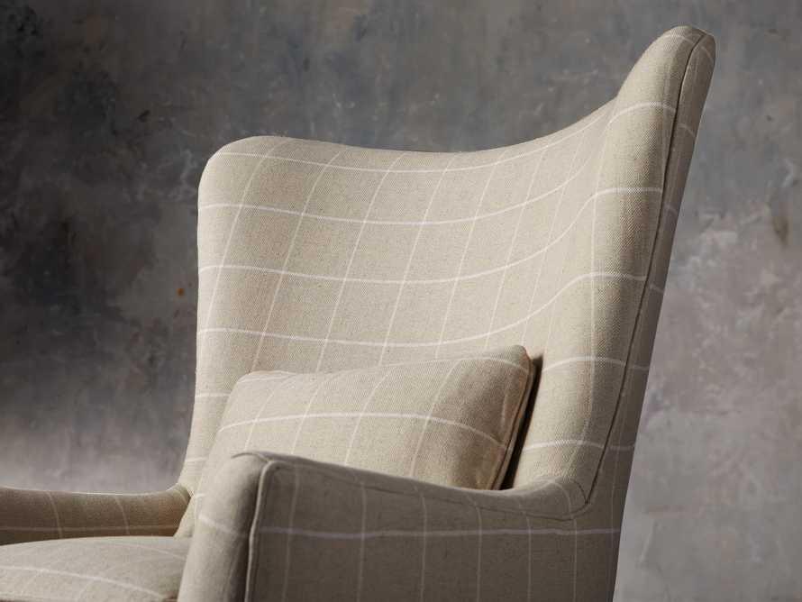"Rio Upholstered 35"" Chair in Window Linen, slide 8 of 11"