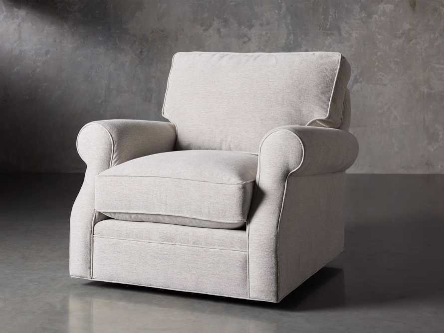 "Landsbury Upholstered 41"" Swivel Chair, slide 2 of 8"