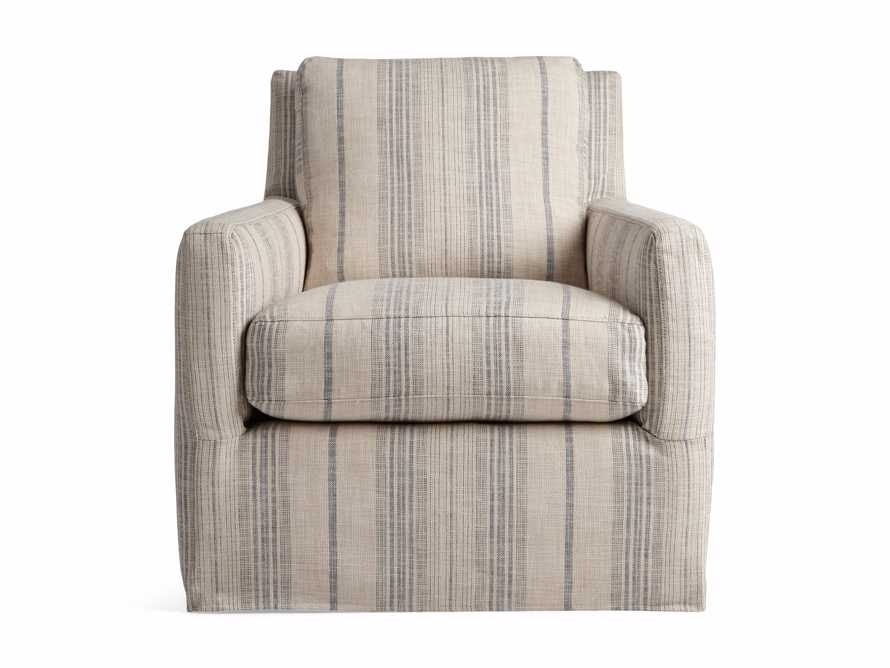 "Kenley Slipcovered 33"" Swivel Chair, slide 8 of 9"