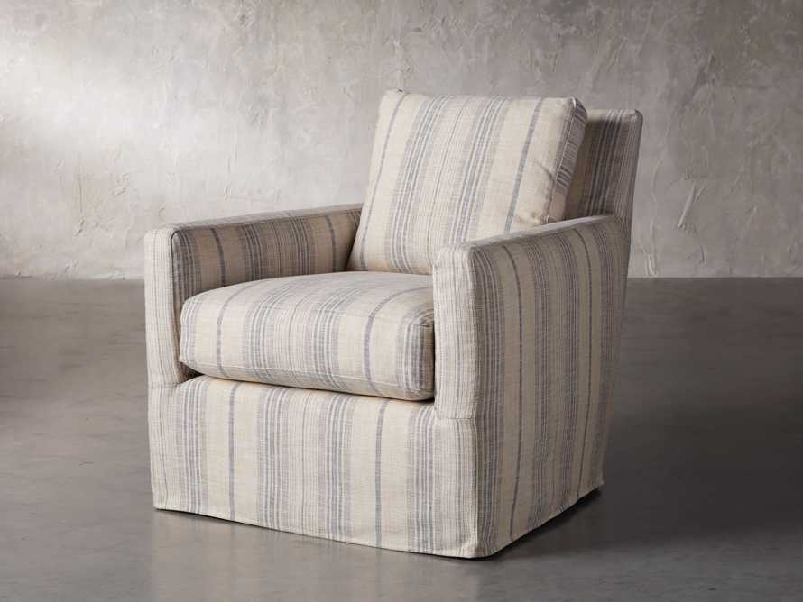 "Kenley Slipcovered 33"" Swivel Chair, slide 2 of 9"