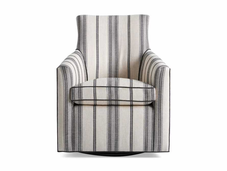 "Juniper Upholstered 29"" Swivel Chair in Sofie Chia with Cory Onyx Welt, slide 4 of 4"