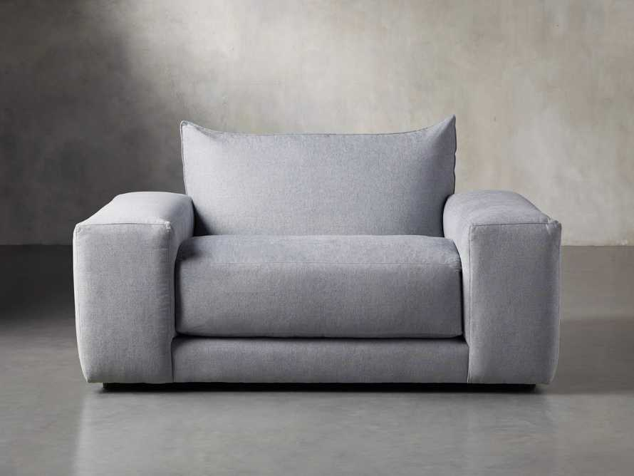 """Wyndham Upholstered 66"""" Chair in Stanton Frost, slide 1 of 8"""
