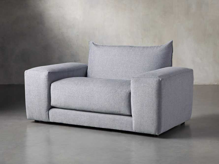 """Wyndham Upholstered 66"""" Chair in Stanton Frost, slide 2 of 8"""
