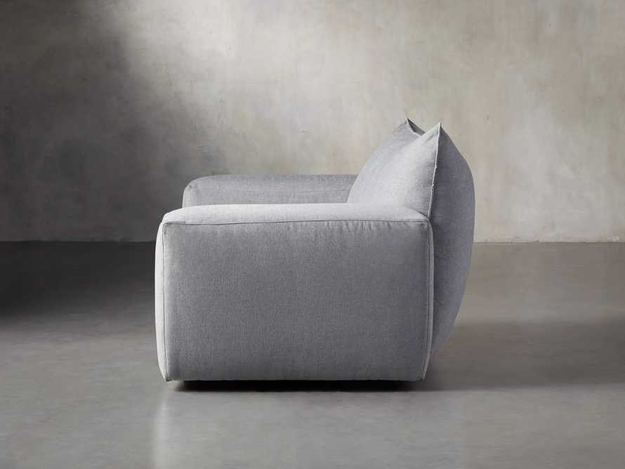 """Wyndham Upholstered 66"""" Chair in Stanton Frost, slide 3 of 8"""