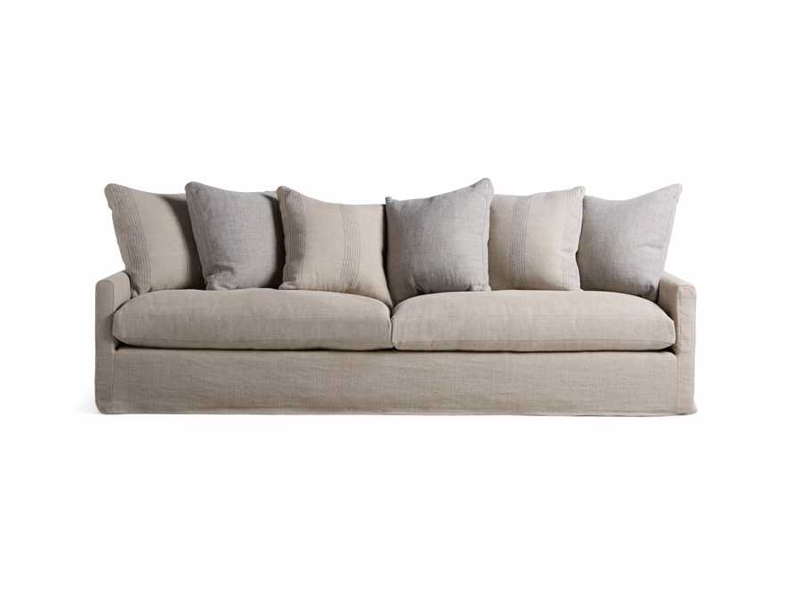 "Kipton Petite Slipcovered 106"" Scatterback Sofa"
