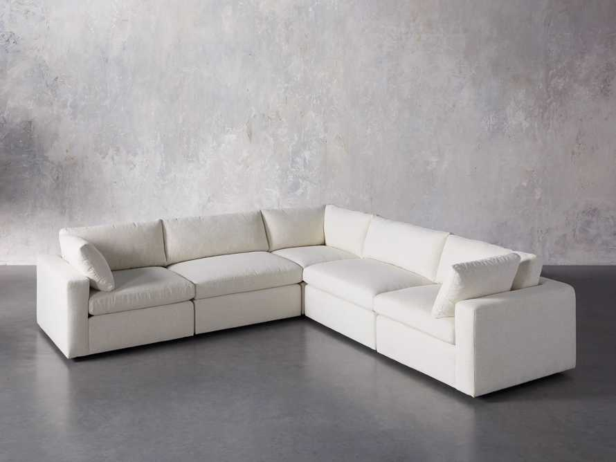 Beale Upholstered Five Piece Corner Sectional, slide 2 of 7