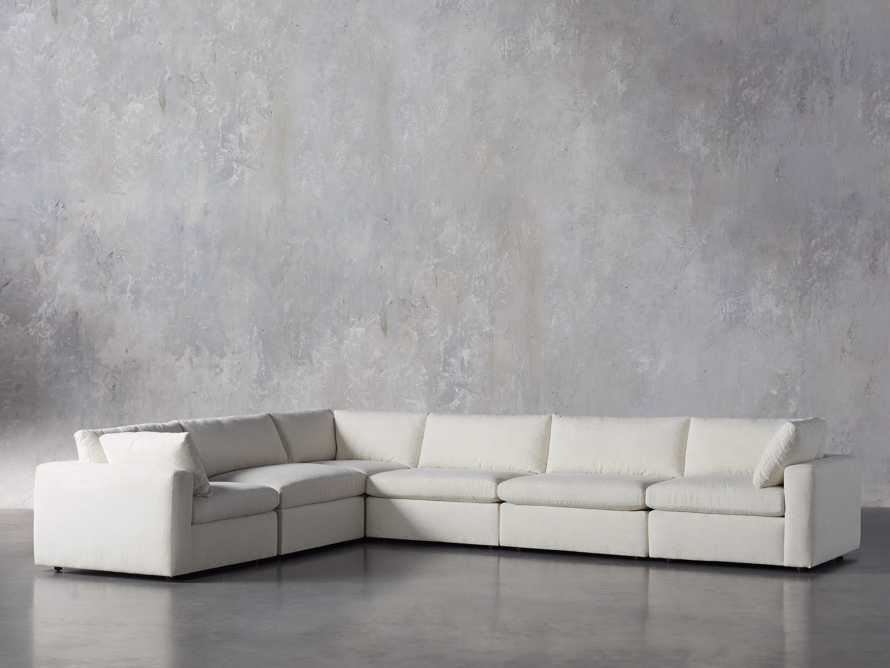 Beale Upholstered Six Piece L-Shaped Sectional