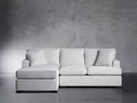 """Dune Upholstered 95"""" Two Piece Left Arm Sectional in Vertual Snow"""