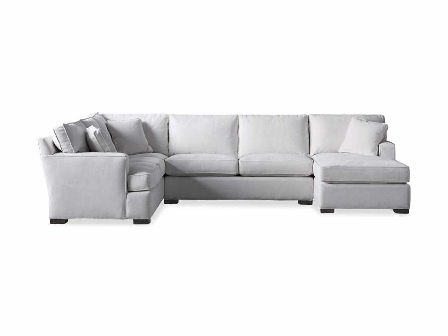 "Dune Upholstered 139"" Three Piece Sectional in Vertual Snow, slide 7 of 7"