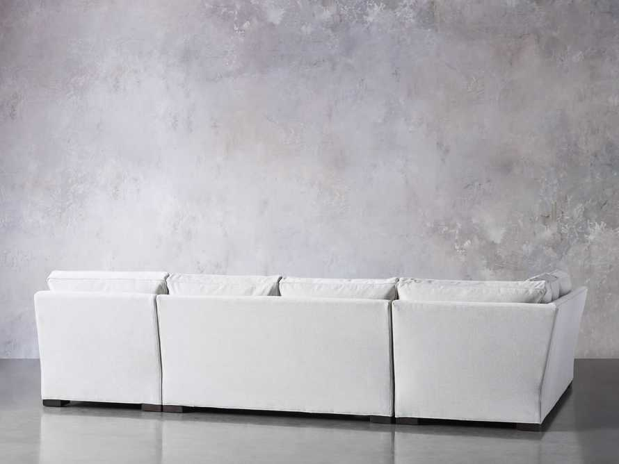 "Dune Upholstered 139"" Three Piece Sectional in Vertual Snow, slide 4 of 7"
