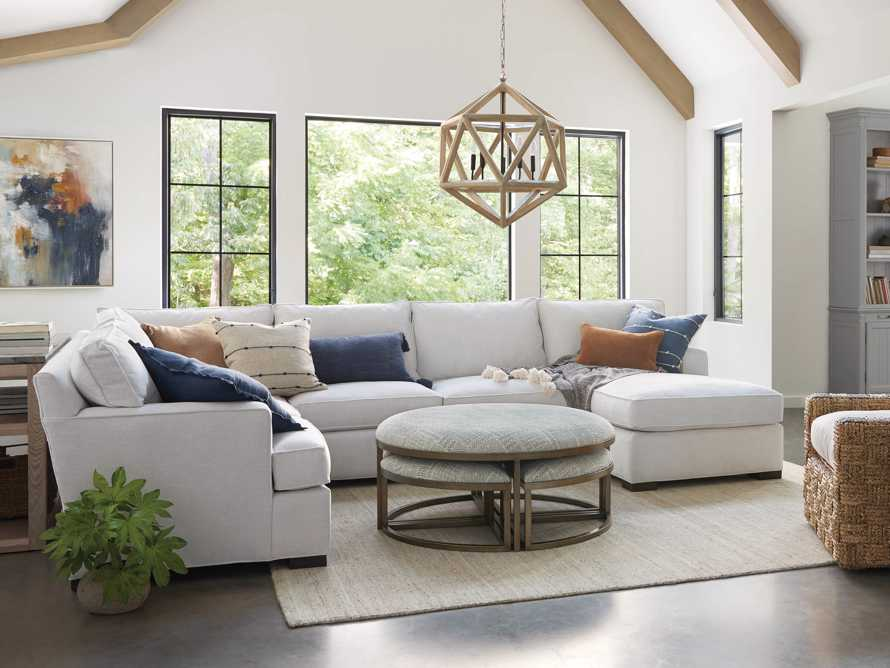 """Dune Upholstered 139"""" Three Piece Sectional in Vertual Snow, slide 1 of 8"""