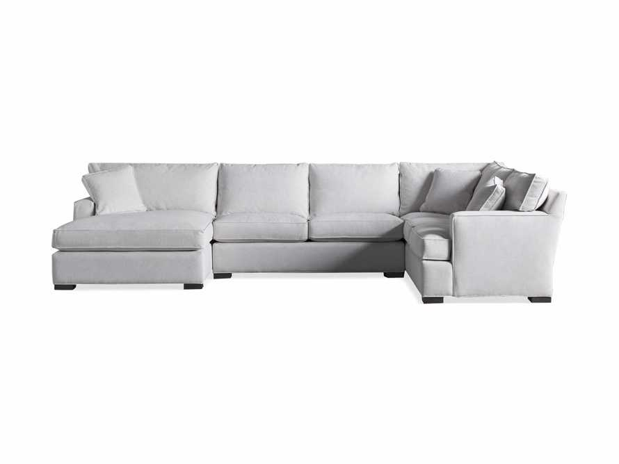 """Dune Upholstered 150"""" Three Piece Right Arm Large Chaise Sectional in Vertual Snow, slide 6 of 6"""