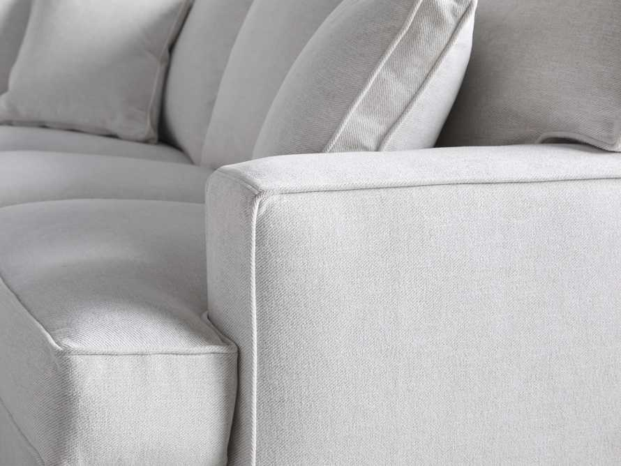 """Dune Upholstered 150"""" Three Piece Right Arm Large Chaise Sectional in Vertual Snow, slide 5 of 6"""