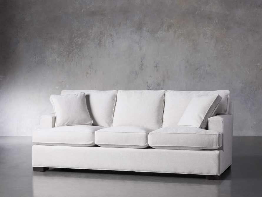 "Dune Upholstered 88"" Sofa in Vertual Snow, slide 2 of 7"