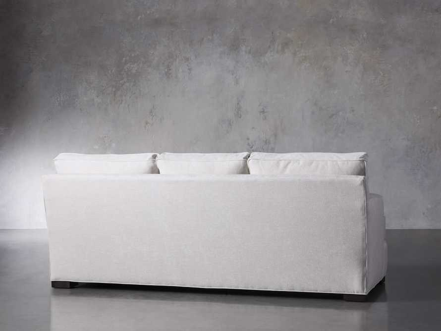 "Dune Upholstered 88"" Sofa in Vertual Snow, slide 4 of 7"