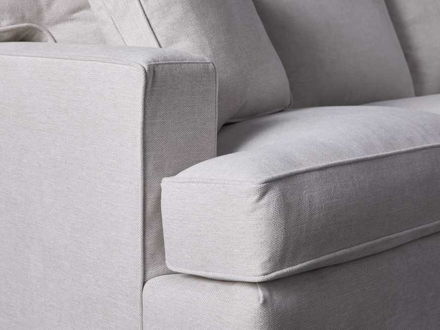 "Dune Upholstered 88"" Sofa in Vertual Snow, slide 5 of 7"