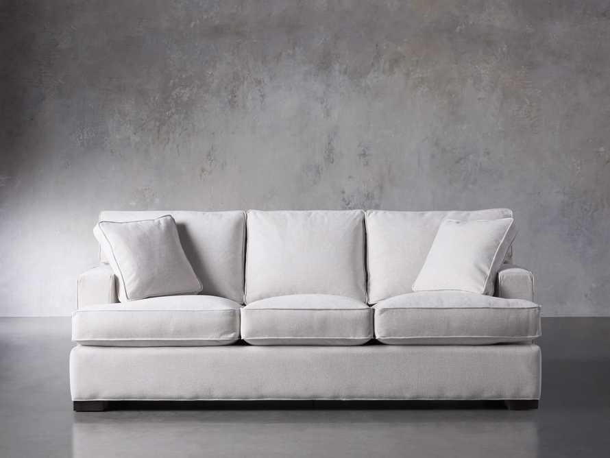 "Dune Upholstered 88"" Sofa in Vertual Snow, slide 1 of 7"